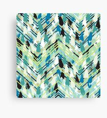 Chevron print with colorful stripes and lines Canvas Print