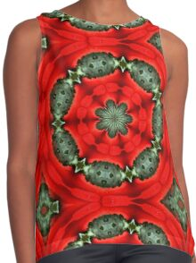 Red And Green Circles Pattern Contrast Tank