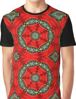 Red And Green Circles Pattern Graphic T-Shirt