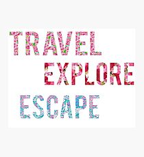Travel Explore Escape- 3 Pack Photographic Print