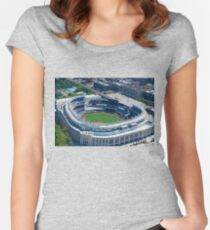 Yankee Stadium From Above Women's Fitted Scoop T-Shirt