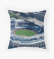 Yankee Stadium From Above Throw Pillow