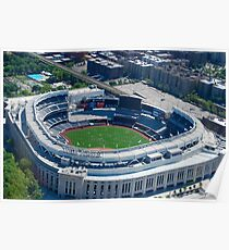 Yankee Stadium From Above Poster