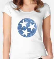 Vintage State Flag of Tennessee Women's Fitted Scoop T-Shirt