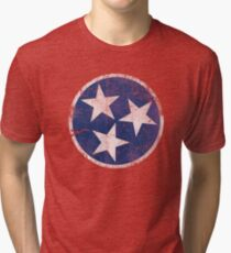 Vintage State Flag of Tennessee Tri-blend T-Shirt