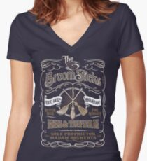 The Three Broomsticks Inn & Tavern Women's Fitted V-Neck T-Shirt