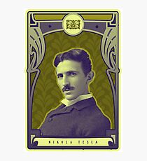 Nikola Tesla's Electric Mind Photographic Print