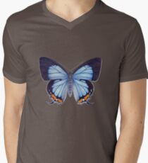 Imperial Blue Butterfly Mens V-Neck T-Shirt