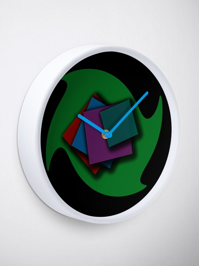 Alternate view of Falling papers Clock