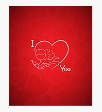 Cupid - I Love You - Valentine 2017 Photographic Print