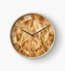 Golden cereal ears macro Clock