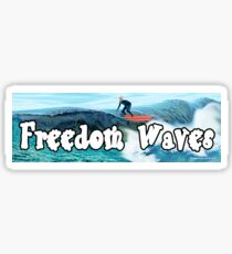 Trump Surfing - Freedom Waves Sticker