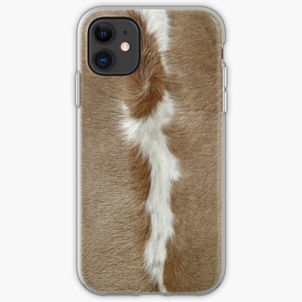 A Patch of Cowhide. iPhone Soft Case