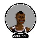 Avery Johnson - Spurs by pixelfaces