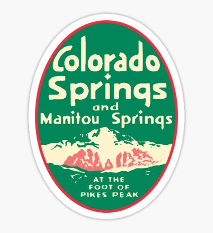 Colorado Springs Vintage Travel Decal Sticker