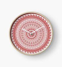Hygge Mandala Design Clock