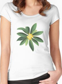 Loquat medlar tree in Autumn I Women's Fitted Scoop T-Shirt