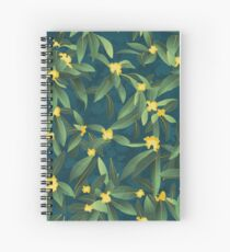 Loquat medlar tree in Autumn I Spiral Notebook