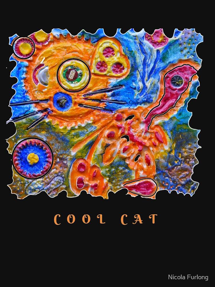 STEAMPUNK ART - COOL CAT  by nicolafurlong