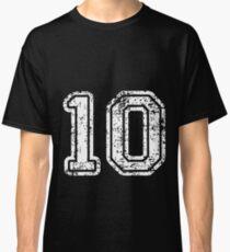 Sport Team Jersey 10 T Shirt Football Soccer Baseball Hockey Double Basketball Zero One 1 0 10  Classic T-Shirt