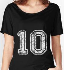 Sport Team Jersey 10 T Shirt Football Soccer Baseball Hockey Double Basketball Zero One 1 0 10  Women's Relaxed Fit T-Shirt
