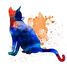 Watercolor Cat1 by tallula