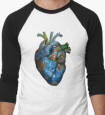 Corazón Errante Camiseta ¾ bicolor para hombre