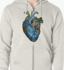 Corazón Errante Sudadera con capucha y cremallera