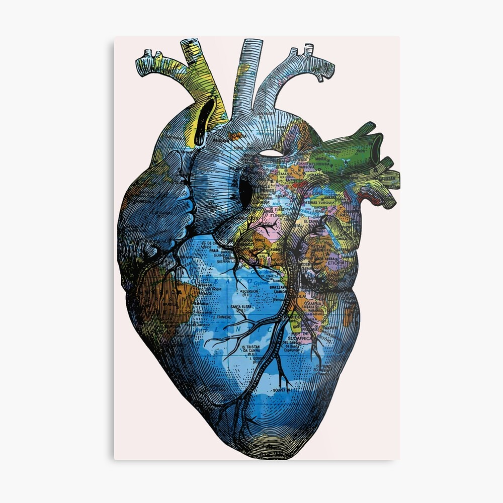 Corazón Errante Lienzo metálico