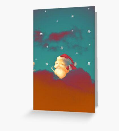 Santa Clouds Greeting Card