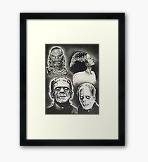 Classic Universal Monsters Framed Print