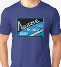 AUZZIE SURF BOARD - CALIFORNIA GAMES SPONSOR Unisex T-Shirt