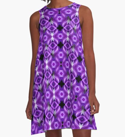 Purple Passion Abstract Pattern A-Line Dress