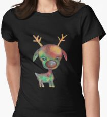 Rudolph the Red-Nosed Reindeer Womens Fitted T-Shirt