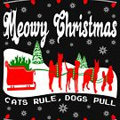 Meowy Christmas Cat Sleigh by EthosWear