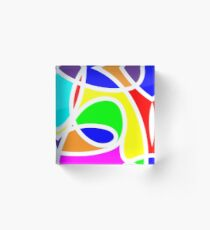 Loops Color Acrylic Block