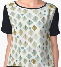 Watercolor Diamonds Chiffon Top
