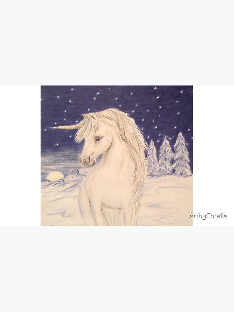 Winter Einhorn von ArtbyCoralie