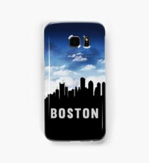 Boston Massachusetts Skyline Cityscape Nightfall Samsung Galaxy Case/Skin