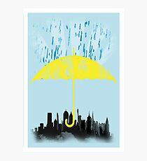 Yellow Umbrella Photographic Print