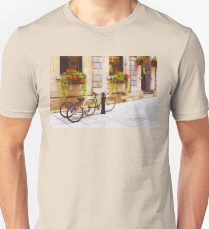 Tandem Bicycle and Flowers 2 T-Shirt