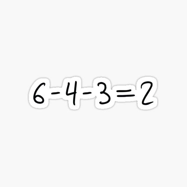 Double Play Equation - Dark Sticker