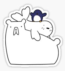 Polar Bear Harp Seal and Penguin Sticker