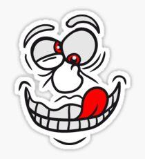 grimasse verrückt crazy gesicht comic cartoon lustig  Sticker