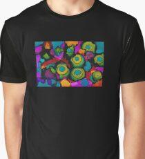 Turquoise circles - horizontal Graphic T-Shirt