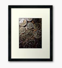 Choc Coins for Christmas Framed Print