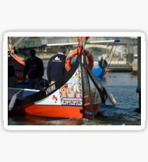 Traditional Moliceiro Boat Aveiro Portugal Sticker