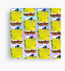 Spongebob Pattern Canvas Print