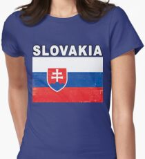 Slovakia Distressed Flag Sports Design T-Shirt