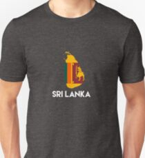 Sri Lanka International Asian Country Map Flag Unisex T-Shirt